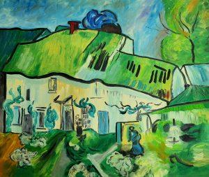 Vincent van Gogh Domy w Aures 60x50