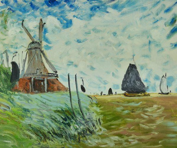 Claude Monet Młyn Wiatrowy