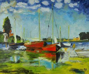 Claude Monet Czerwone Łodzie