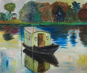 Claude Monet Atelier Na Łodzi