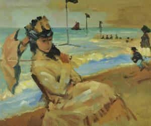 Claude Monet Kamila Na Plaży